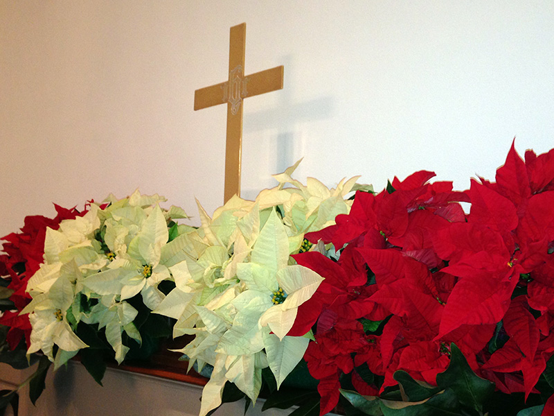 Our alter at Christmas